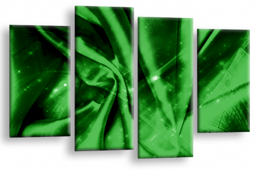 Modern Abstract Canvas Wall Art 2 Tone Green Black Picture